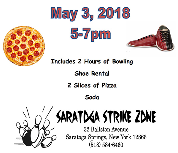Saratoga County Veterans Peer Connection - May 2018 Event - Bowling Night