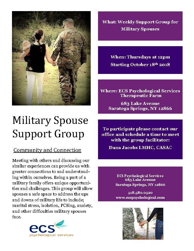Military Spouse Support Group Flyer
