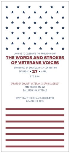 The Words and Strokes of Veterans Voices - Official Book Release Event