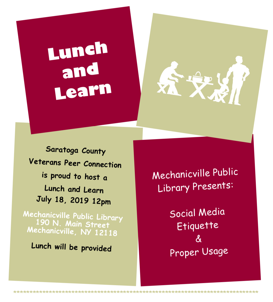 Lunch and Learn - Mechanicville Public Library